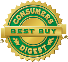 Recognized as the Best Buy in mulitple categories by Consumers Digest